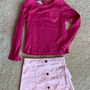 sz4 TOUGHSKIN 2pc outfit mix & match shirt & skirt